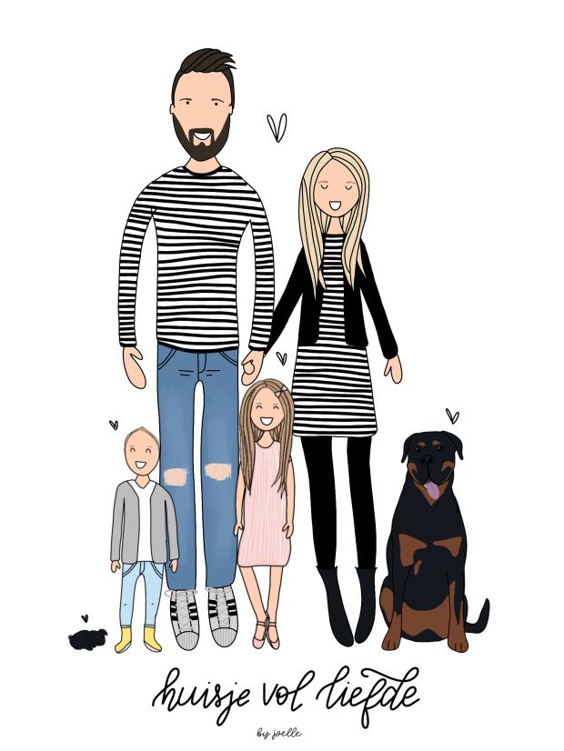 gezin portret